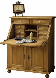 Sekretär Klappsekretär Büromöbel Fichte massiv antik gewachst Landhaus - Vorschau 1