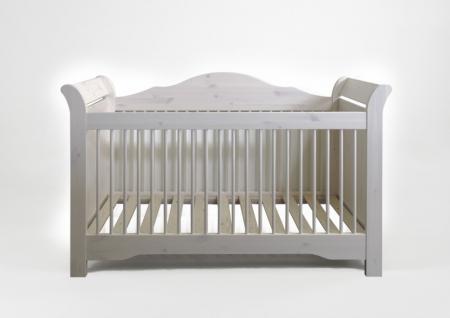 Babybett Gitterbett Kinderbett Kiefer massiv weiß romantisch süß Baby Bett - Vorschau 1
