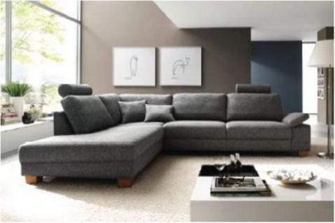 Polsterecke Garnitur Couch Eckgarnitur mit Kopfstützen Wohnlandschaft - Vorschau