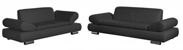 Polstergarnitur Sofa Set Garnitur Sofagarnitur modern schwarz creme grau - Vorschau 3