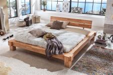 Bett Balkenbett Doppelbett Kernbuche massiv Balken Schlafzimmer versch. Größen