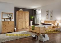 Jugendbett Einzelbett Doppelbett Gästebett Kiefer massiv geölt lackiert Landhaus