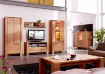 Wohnzimmer Vitrine Highboard TV Couchtisch Kernbuche massiv
