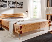 Unikat-Bett Doppelbett Gästebett Bett Kiefer/Fichte massiv gewachst unikat