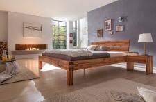 Bett Doppelbett Balkenbett Kernbuche massiv geölt Schlafzimmer versch. Größen