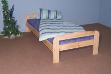 Einzelbett Bett Gästebett Futonliege 90x200 massiv natur lackiert