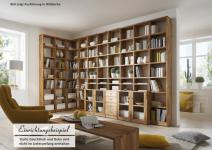 Bücherregal Bücherwand Wohn System Wildeiche White Wash Kernbuche massiv geölt