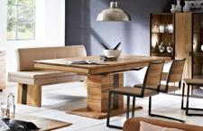 Esstisch Tisch Esszimmertisch vergrößerbar Esszimmer Säulentisch Asteiche