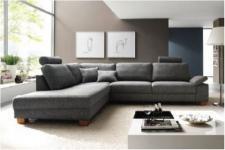 Polsterecke Garnitur Couch Eckgarnitur mit Kopfstützen Wohnlandschaft