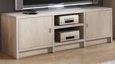 TV-Board TV Konsole Anrichte System Wildeiche White Wash Kernbuche massiv geölt