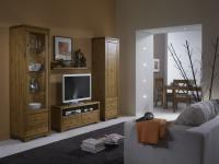 Wohnzimmer TV-Möbel Vitrine Wandregal Landhausstil Kiefer massiv