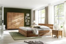 Schlafzimmer komplett Schrank Bett Nachtkommode Einrichtung Kernbuche massiv