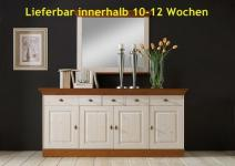 Anrichte Sideboard Kommode 4-türig Landhausstil Kiefer massiv