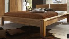 Bett Doppelbett Kernbuche massiv geölt Ehebett Futonbett Nako