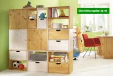 Würfel Regal Regalwand Würfelsystem Kinder- Jugendzimmer Kiefer massiv