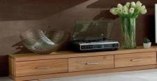 Lowboard TV-Board TV-Lowboard TV-Möbel Kernbuche massiv geölt modern