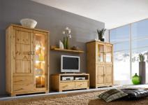 Wohnwand Vitrine Highboard Fernsehtisch Landhausstil Kiefer massiv