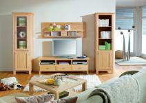Wohnwand Wohnzimmerwand Wohnzimmer TV-Wand Birke massiv gewachst