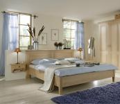 Bett Doppelbett Ehebett Nachtkästchen Nachtkommode Schlafzimmer Fichte massiv