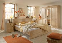 Schlafzimmer Komplett Bett Schrank Nachtkommoden Fichte massiv gewachst