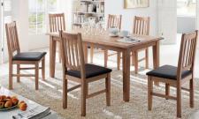 Essgruppe Tischgruppe Esstisch Stühle Esszimmer-Set Eiche massiv geölt natur
