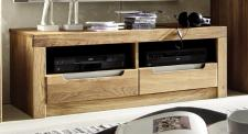 TV-Board Lowboard TV-Anrichte Wildeiche massiv geölt bianco Softclose