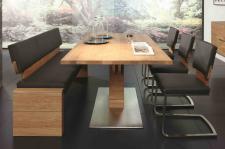 Tischgruppe Essgruppe Esszimmer Bank Tisch Stühle Asteiche massiv geölt