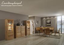 Esszimmer Wohnzimmer Tischgruppe Eckbank Vitrine Kernbuche massiv geölt