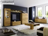 Wohnzimmer Wohnwand Kompletteinrichtung Wohnbereich Asteiche massiv geölt