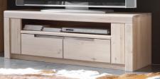 Mediaboard TV-Board Lowboard Wildeiche massiv Bianco geölt