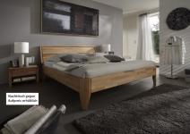 Bett Ehebett Überlänge Kernbuche massiv geölt Traumbett Schlafzimmer