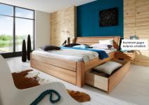 Schubkastenbett Doppelbett aus massiver Kernbuche Überlänge möglich Schlafzimmer