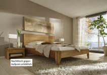 Bett Kopfteil Doppelbett massive Eiche Überlänge vollmassiv rustikal runde Füße