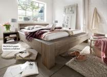 Bett Wuchsrissen Eiche Balkeneiche massiv räucher öl rustikal Schlafzimmer