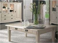Couchtisch Wohnzimmertisch Tisch mit Schubladen 130x75 cm Kiefer massiv