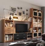 Wohnwand Regalwand TV-Wand Regal Kernbuche massiv geölt Wohnzimmer