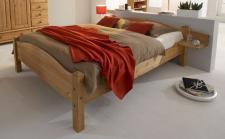 Doppelbett Bett Schlafzimmer Holzbett Kiefer massiv 160 x 200 cm