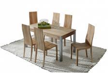 Tischgruppe Esstisch Set Tisch + 6 Stühle Esszimmer Kernbuche massiv geölt