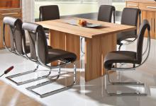 Tischgruppe Esstisch Set Tisch + 6 Stühle Freischwinger Kernbuche massiv geölt