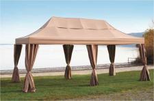 Gartenpavillon Partyzelt Faltzelt Profiqualität regendicht beige 3x6m robust