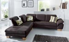 Polsterecke Eckcouch Ecksofa Sofa Couch Polstersofa choco braun Kernbuche