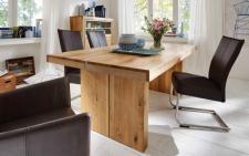 Tisch Esstisch Esszimmertisch Wangentisch Asteiche Eiche massiv gebürstet geölt
