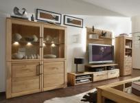 Wohnwand TV Wand TV Möbel Wohnzimmerset Set Wildeiche massiv natur geölt