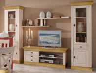 Wohnwand Wohnzimmerset Vitrinen Wandboard TV-Board Kiefer massiv Landhaus