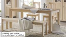 Bank Sitzbank Beistellbank Küchenbank Tischgruppe Birke massiv gewachst
