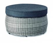 Lounge Tisch Beistelltisch Hocker Geflecht Polster witterungsbeständig