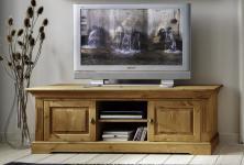 Lowboard TV-Board Mediencenter Wohnzimmer Kiefer massiv Landhausstil 2 Holztüren