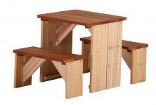 Tischgruppe für Kinder Garten Bänke Tisch Kindergartengruppe Holz Zeder