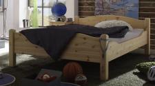 Einzelbett Doppelbett Gästebett Jugendbett Überlänge Kiefer massiv