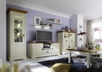 Wohnzimmer Set Wohnwand Wohnzimmerset Kiefer Wildeiche massiv Vintage shabby